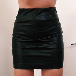 Black leather Aritzia Skirt